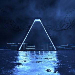 3D concepts neon science fiction model