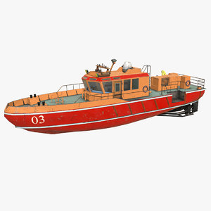 3D model towboat boat pbr