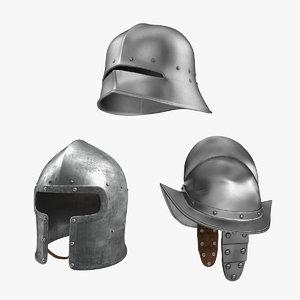 3D old italian helmets