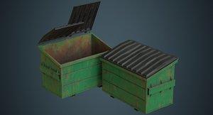 3D dumpster contains 2c