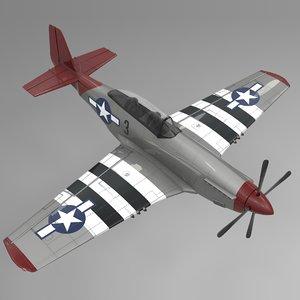 3 north american p-51 mustang 3D model
