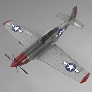 qpd north american p-51 mustang model