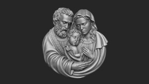 3D model holy family pendant