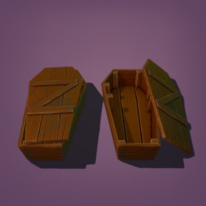 3D coffin ready model