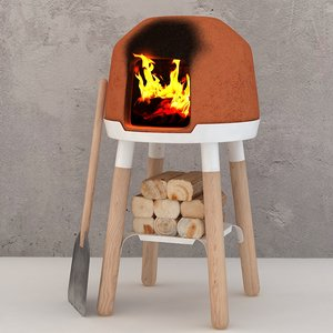 design little oven bread 3D model