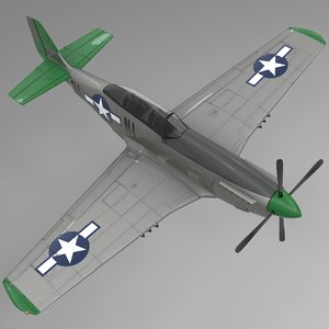 qlni north american p-51 mustang 3D model