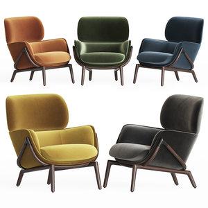 3D elysia lounge chair kooku