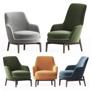 flexform leda armchair set model