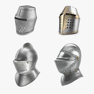 knight closed helmets 3D model