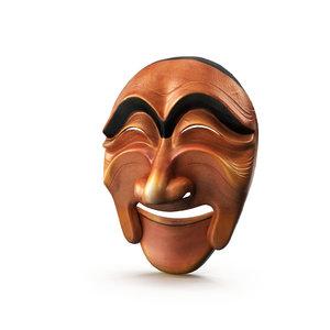 korea tradition mask 3D