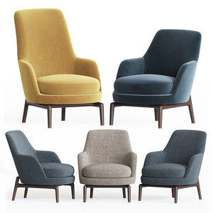 3D leda armchair flexform set