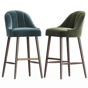 margot bar stool 3D model