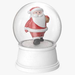 snow globe santa claus model