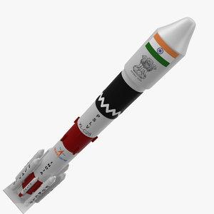 3D pslv rocket