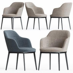 3D caratos chair maxalto model