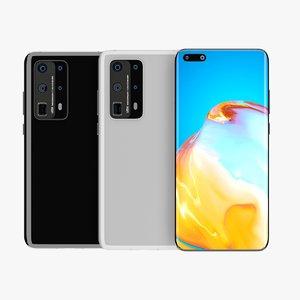 3D huawei p40 pro phone