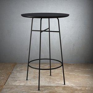 afteroom bar table - 3D