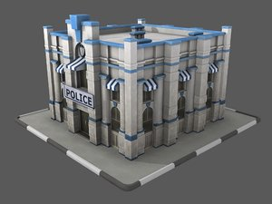police station office building 3D