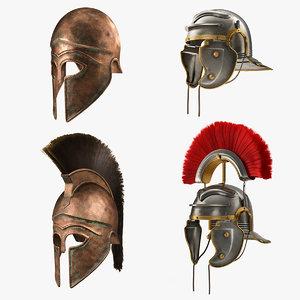 gladiator helmets 3D