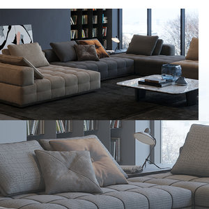 3D lawrence clan sofa model