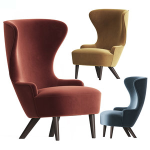 3D wingback micro chair tom dixon model