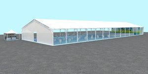 meeting tent stage 3D model