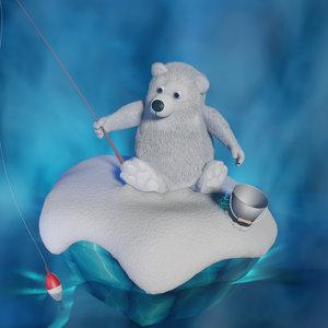 3D cartoon bear animation