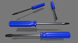 3D model screwdriver 3