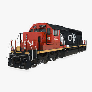 3D model locomotive sd40-2 cn sd40
