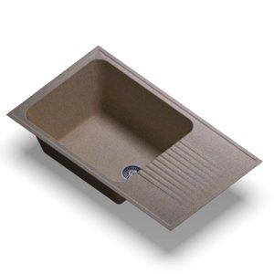 sink polygran f-19 sand 3D