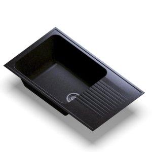 3D sink polygran f-19 black model