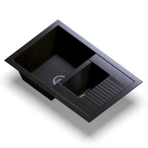 3D sink polygran f-21 black