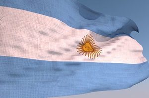 argentina waving flag - 3D model