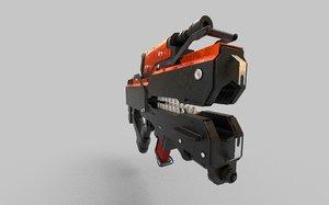 weapon sci-fi rifle 3D model