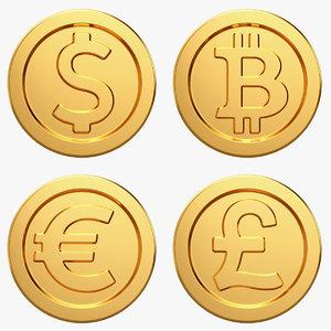 bitcoin coin money 3D