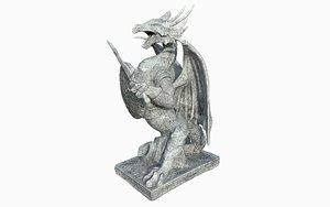 3D dragon statue model