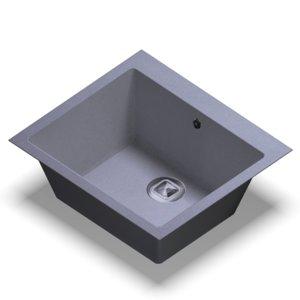 sink polygran r-111 grey 3D