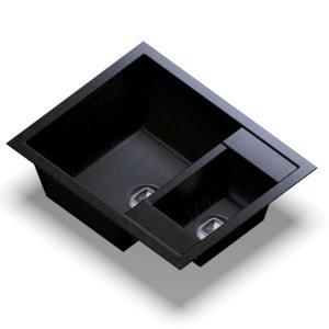 sink polygran r-109 black 3D model