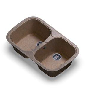 3D model sink polygran f-150 sand