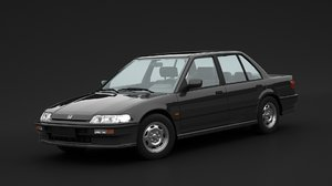 3D honda 1990 civic