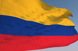 colombian waving flag animation 3D model