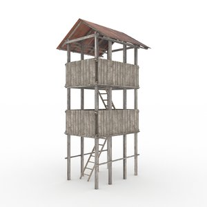 tower zombies 3d max
