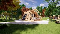 glamping pod tiny house vacation house on 18 m2 with terrace 8m2