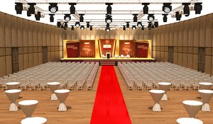 stage meeting hall 3D