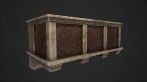 medieval balcony 3D model