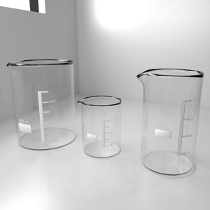 150ml 250ml 800ml glass 3D model