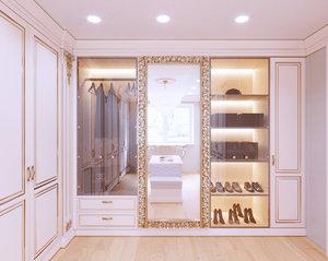 3D model wardrobe classic room