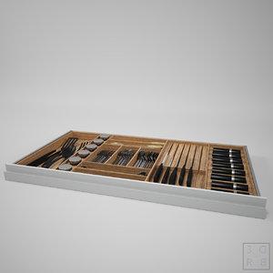 3D drawer cutlery