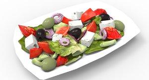 greek salad model