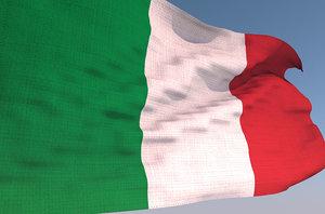 3D italy waving flag animation